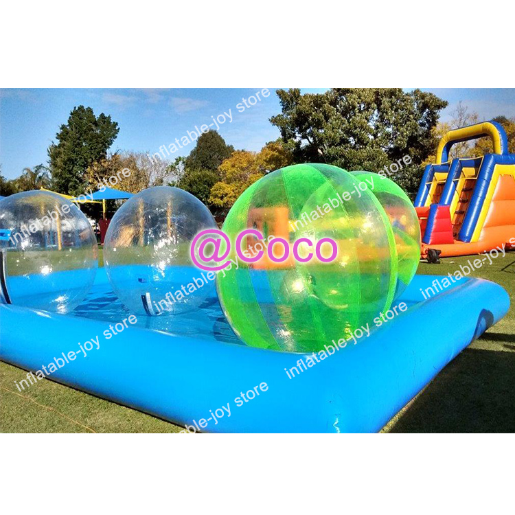 2.0m Inflatable Water Walking Ball/good Quality Human Walking Roller Balloon For Sale Easy To Repair Free Shipping To Door Inflatable Bouncers