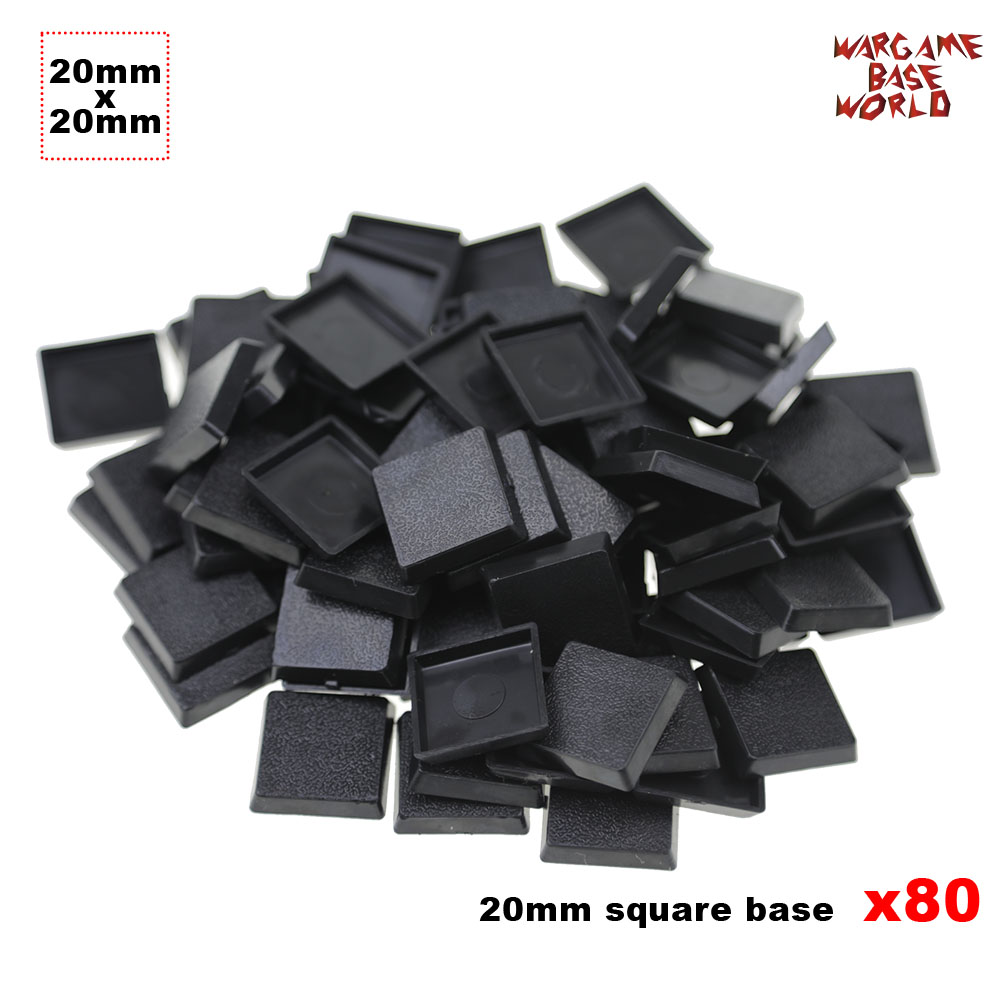 80pcs 20mm Plastic Bases  For Wargames And Gaming Miniatures Square Bases