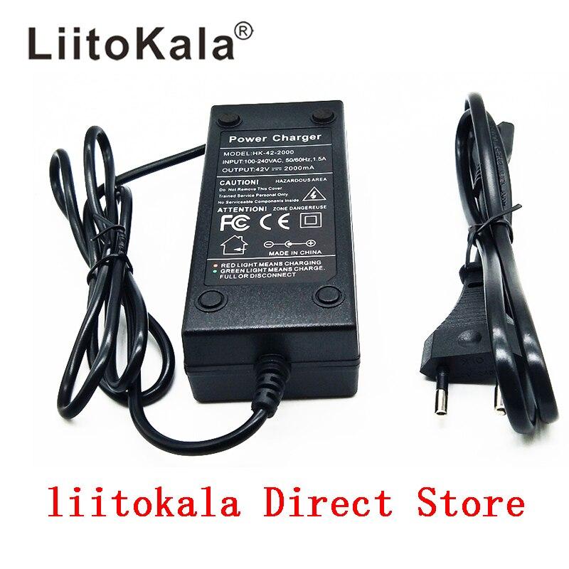 HK Liitokala 36 V chargeur de batterie sortie 42 V 2A chargeur entrée 100-240 VAC Lithium Li-ion chargeur pour 10 S 36 V vélo électrique