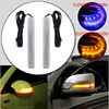 2pcs LED Car Auto Vehicle Universal Amber Blue 18 SMD Rearview Side Mirror Turn Signal Light