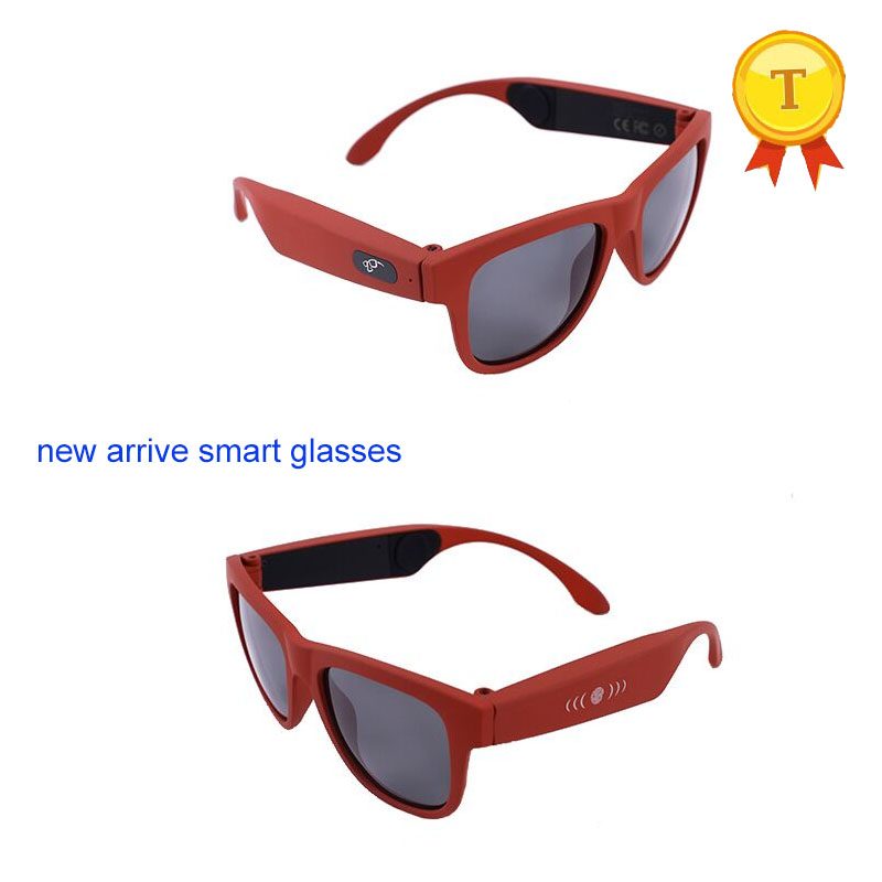 2018 high quality wireless bone conduction bluetooth color sun glasses eye glasses Wireless Music earphone touch control headset gl01 bone conduction bluetooth glasses ip67 waterproof one click answering call compatible with sunglasses and myopia glasses