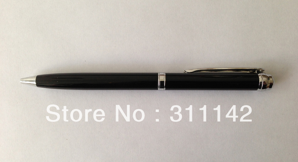BLACK AND SILVER ROLLER METAL BALL PEN FREE SHIPPING BY FEDEX 500PCS/LOT PRINT CLIENT LOGO