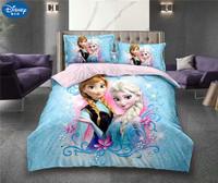 3Pcs Cotton Children Bedding Set Princess Frozen Anna Elsa Girl bed set dorm room bedding bag pillowcase sheet