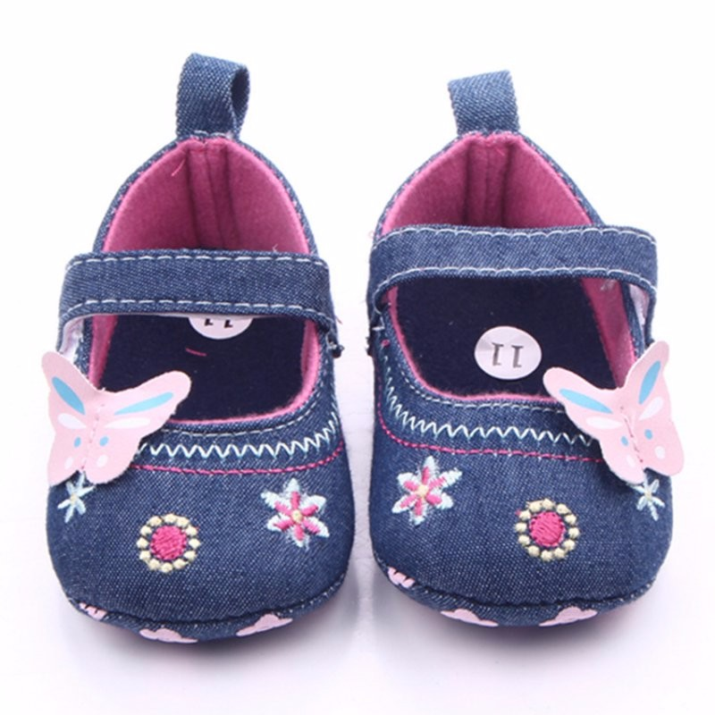 2019 Baby Shoes Girls Butterfly Pre Walker Soft Sole Toddler Shoes ... 1ee016f055b7