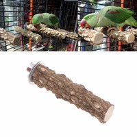 1Pc 10/20/30cmWooden   Bird   Parrot Stand Holder Paw Grinding Perch Chew Pets Toys Hanging Cage   Birds     Supplies   Good Quality C42