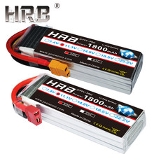 HRB 1800mAh 2S 3S Lipo Battery 7.4V 11.1V XT60 T Deans Plug 50C 14.8V 18.5V 22.2V 4S 5S 6S RC Parts For Mjx Bugs Airplane Boats(China)