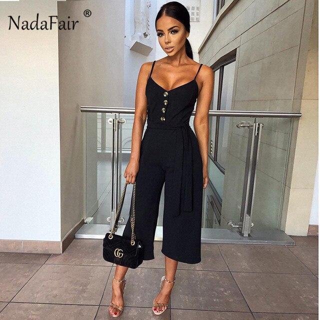 Backless Sexy Rompers Womens Jumpsuit 2019 Belt Elegant Bandage Plus Size Black White Jumpsuit Overalls Streetwear 3