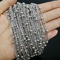 Stainless Steel Strong 2mm Box And Beads Bulk Chain Jewelry Finding Charm Meter (LT-022)