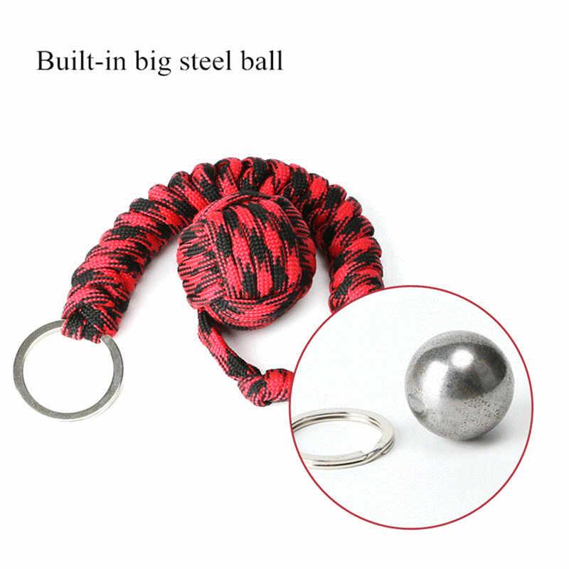 Защита безопасности B039 черная обезьяна кулак стальной шарикоподшипник самообороны ремешок брелок для выживания