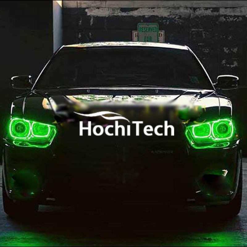 4pcs Super bright 7 color RGB LED Angel Eyes Kit with a remote control car styling for Dodge Charger 2011-2014 lamps european style wall lamp bedside lamps simple creative north european style antique garden living room bedroom aisle light