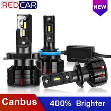 2Pcs H7 Levou Canbus H1 H3 H4 H8 H11 HB3 9005 10000LM HB4 9006 Faróis de Led Mini 100W 6000K Lâmpadas Luz Do Carro Auto Lâmpada de Automóvel
