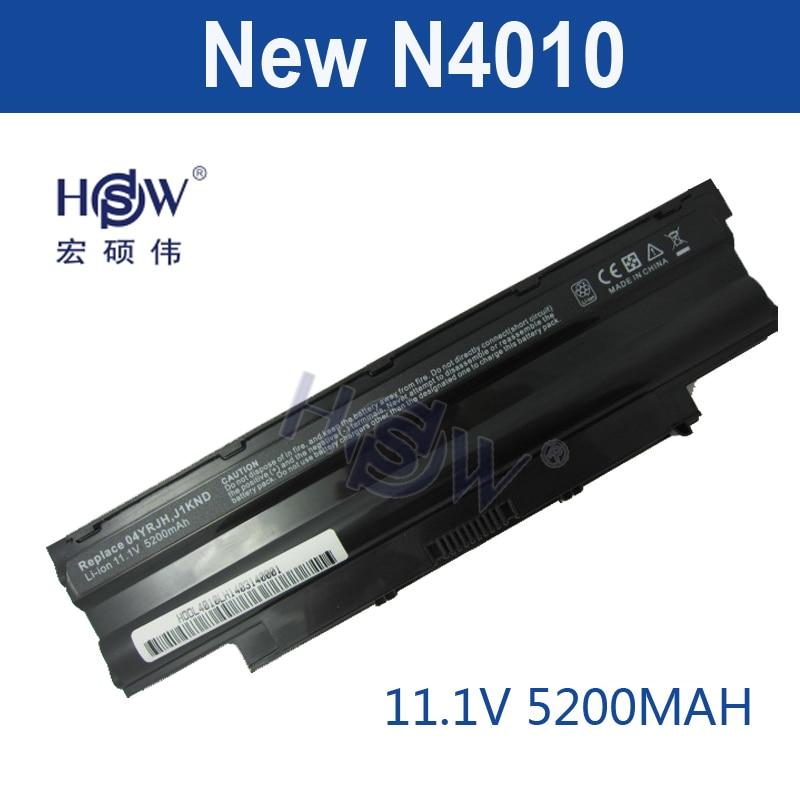 HSW Laptop Battery for Dell Inspiron 14R N4010 N4010D 13R N3010D N7010 N5010 N3010 J1KND N3110 N4050 N4110 N5010D N5110 N7010 hsw replacement laptop battery for dell precision m4600 m6600 series 0tn1k5 fv993 pg6rc r7pnd dp n0tn1k5 bateria