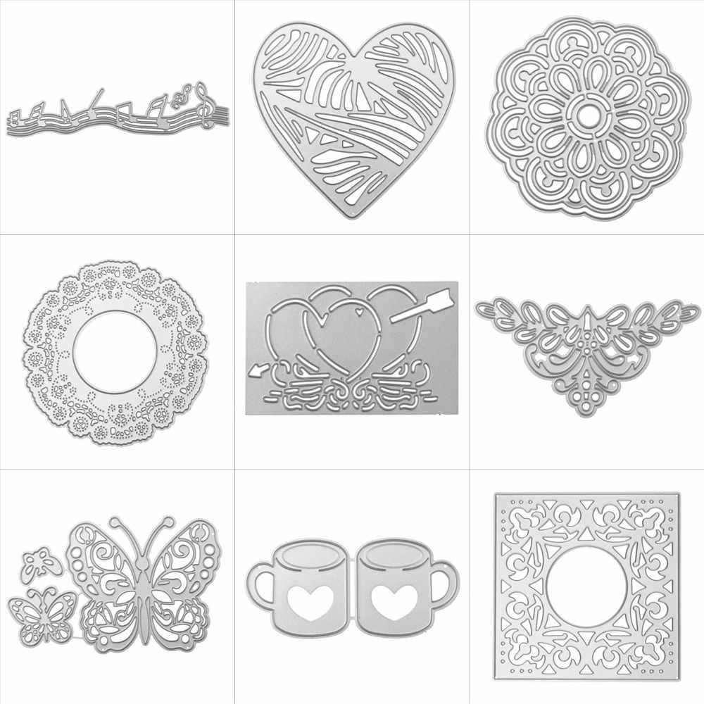 Nuevo copo de nieve troqueles de corte de Metal plantillas álbum de recortes DIY Tarjeta de papel troqueles de corte de metal nuevas 2018 flores animales 2018