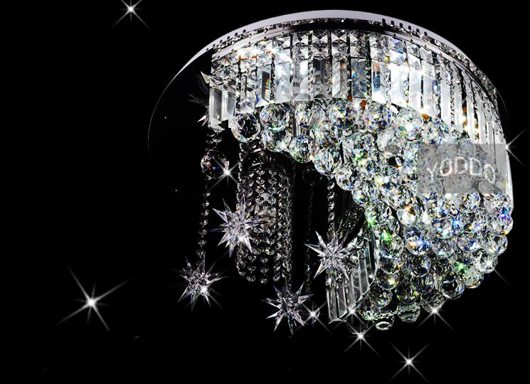 NEW 50cm Modern fashion design Moon& Stars style Crystal Glass pendent lamp light lighting fixture LED E14 Gift free shipping автоинструменты new design autocom cdp 2014 2 3in1 led ds150