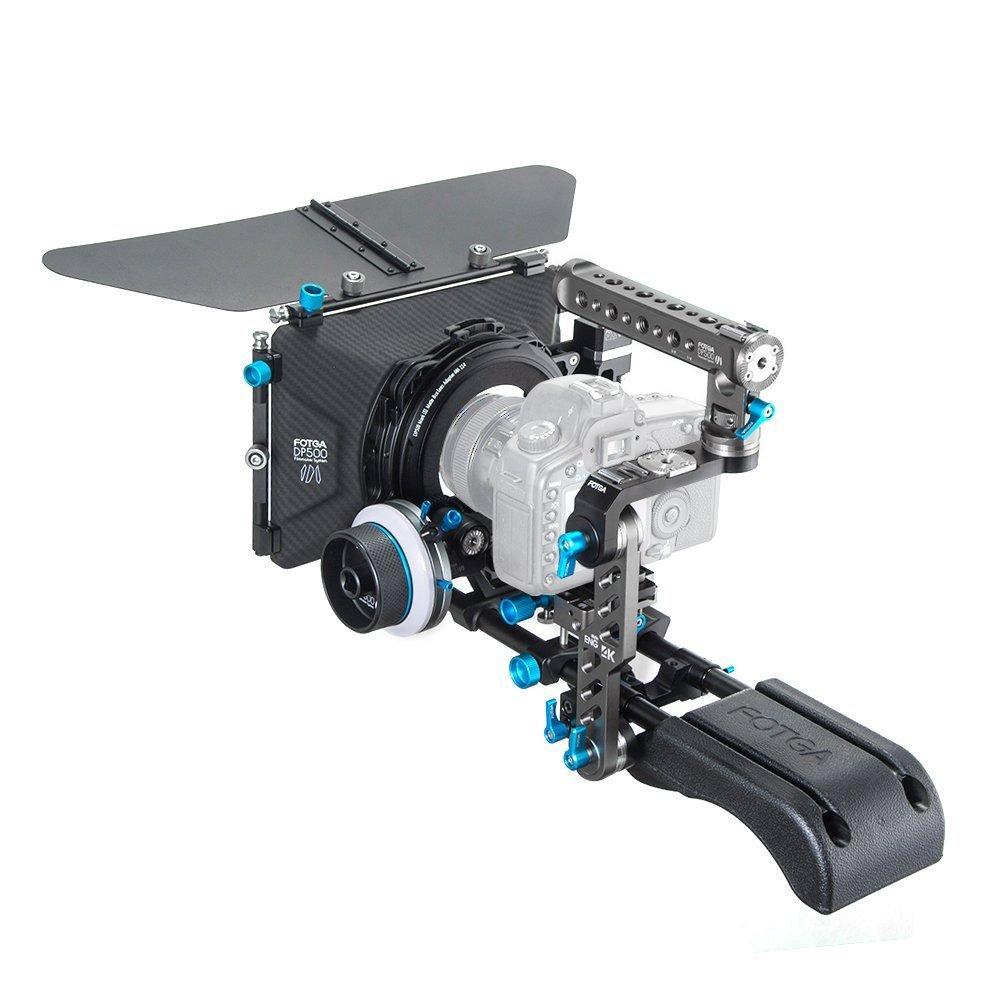 FOTGA DP500III PRO Matte Box+A/B Stop Follow Focus+Baseplate+Handle DSLR Rig Kit