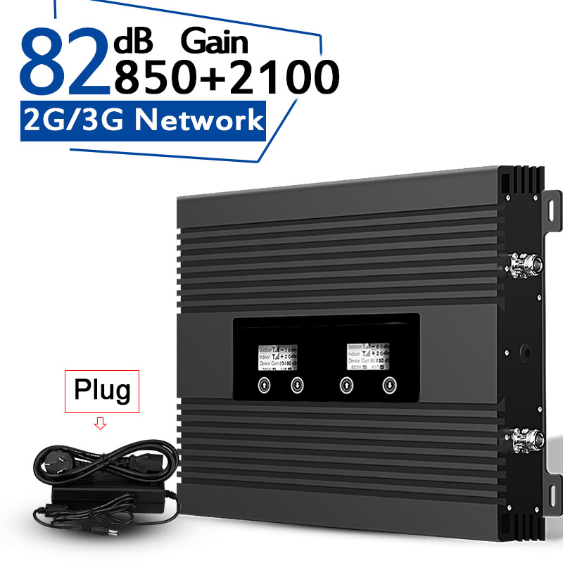 2019 New 3G Cellular Signal Repeater 3G CDMA 850 WCDMA 2100 Signal Amplifier Power 82dB Gain Band1+B5 LCD Display UMTS Booster//2019 New 3G Cellular Signal Repeater 3G CDMA 850 WCDMA 2100 Signal Amplifier Power 82dB Gain Band1+B5 LCD Display UMTS Booster//