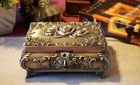 Большой Классическая Европейская Готическая Вечность Роуз Принцесса металла ювелирных поле на память сувенир коробка случай 2120