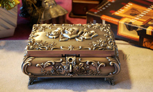 large Classical European Gothic Eternity Rose Princess metal jewelry box keepsake souvenir box case 2120
