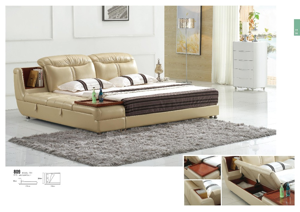 US $895.0 |Modern Bedroom Furniture, Italian Design Pu leather Bed  Upholstered Bed-in Beds from Furniture on Aliexpress.com | Alibaba Group