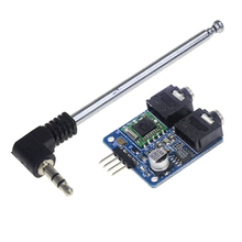 Smart Electronics 1pcs TEA5767 FM Stereo Radio Module 76-108MHZ With Free Cable Antenna for arduino Diy Kit(China)