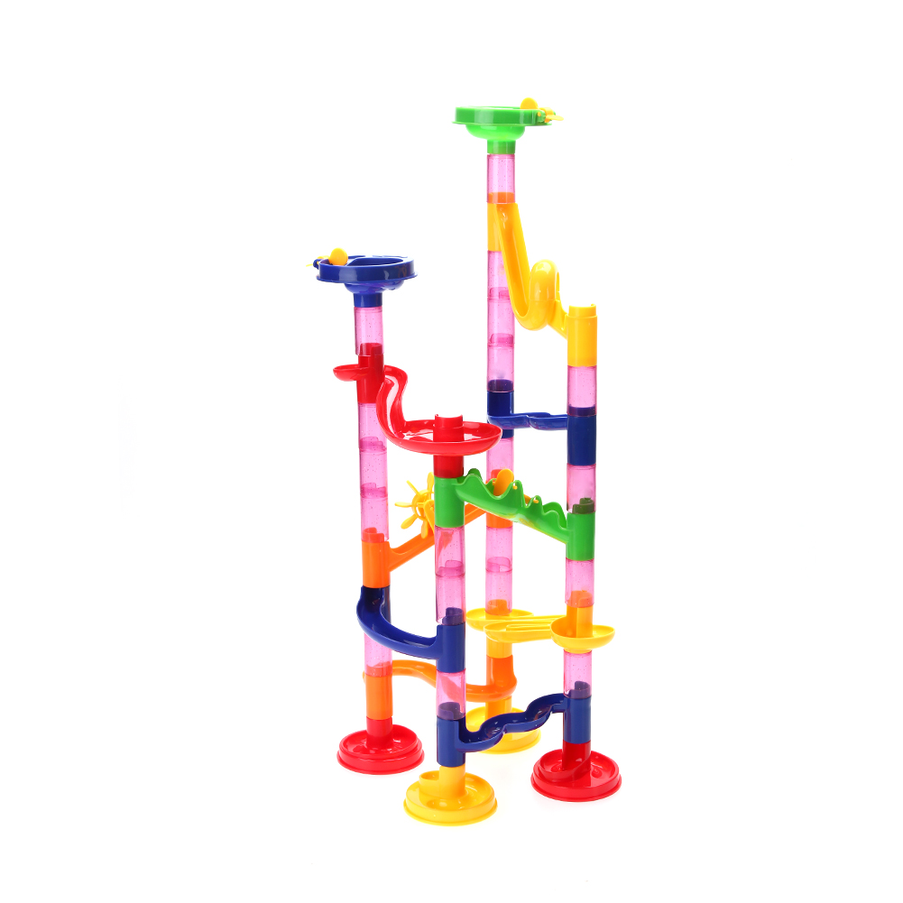 Multicolor Baby font b Toys b font 50pcs Water Pipe Building Kids Race Track Bead Maze