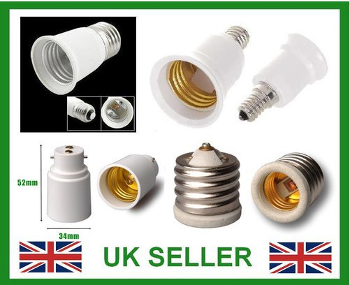 Small Edison Screw SES E14 To Edison Screw ES E27 Light Bulb Adaptor Lamp Holder