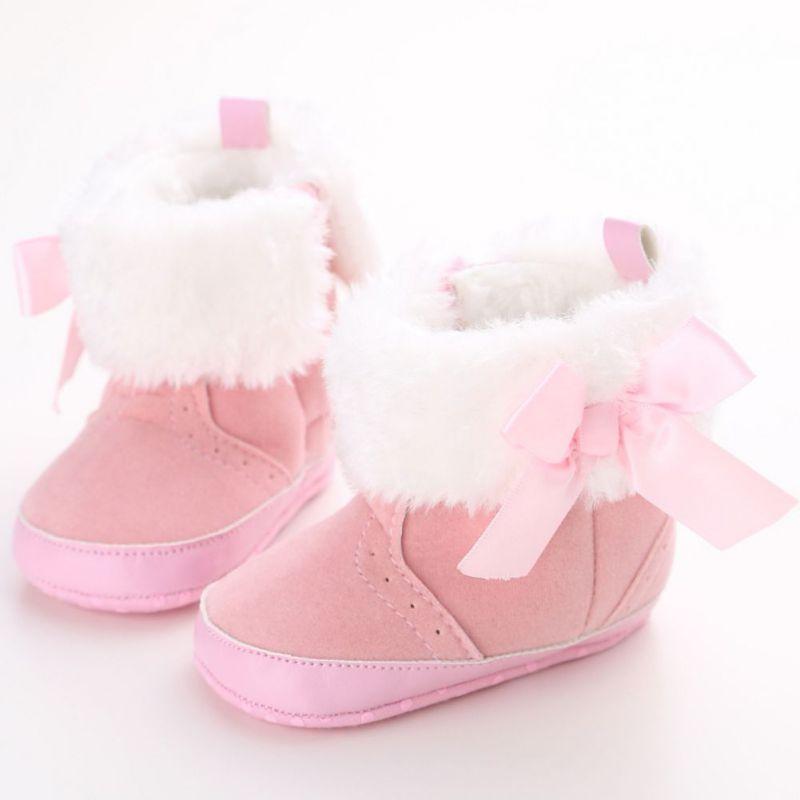 Kūdikių mergina berniuko naujagimio kūdikio kūdikių žiemos šilti sniego batai Toddler kūdikių minkštos kojinės Booties avalynė kūdikių mokasinai batai
