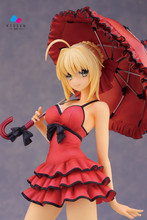 Kissen Toys Fate Stay Night Red Dress Saber Nero 25cm model Sexy Anime PVC Action Toy Figures