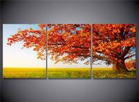 Hd Printed Red Leaf Tree Group Painting Canvas Print Room Decor Print Poster Picture Canvas Free Shipping/Ny 2205 NO framed