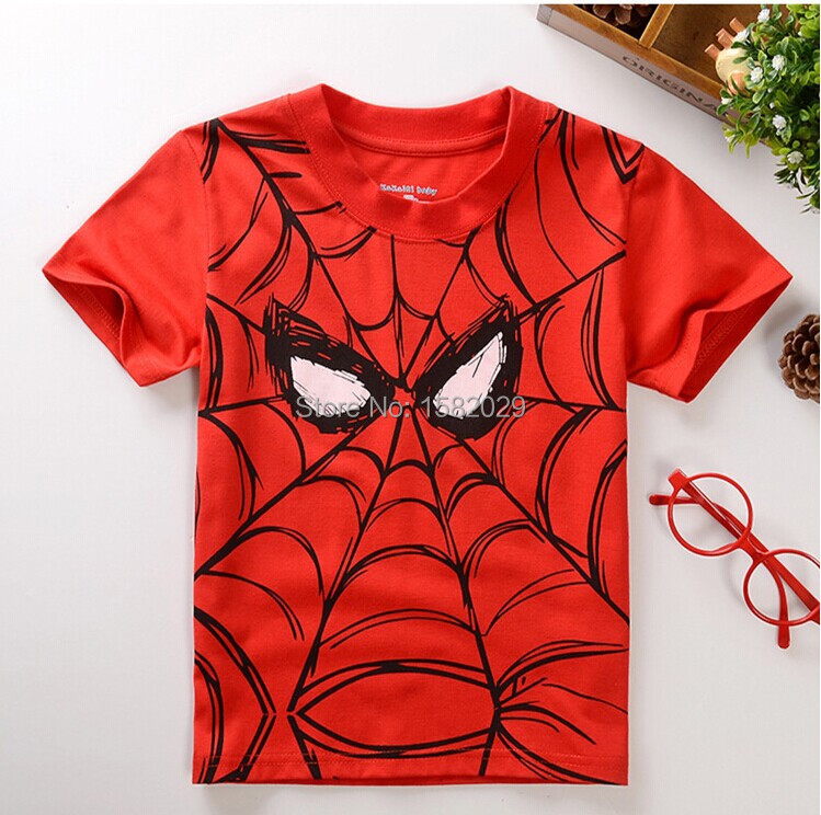 New 2018 children t shirts, Popular Hero Print Kids Baby Boy Tops Short Sleeve T-Shirt Summer Tee free shipping