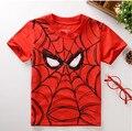 Novas camisas 2017 crianças t, homem-Aranha Crianças Impressão Bebê Menino Tops de Manga Curta T-Shirt Tee Verão livre grátis
