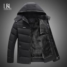 Nowe kurtki męskie 2018 zagęścić ciepłe zimowe kurtki przeciwdeszczowe Casual męskie parka puchowa odzież z kapturem kurtka podszyta bawełną tanie tanio LBL LEADING THE BETTER LIFE Silk-jak Bawełna Poliester bawełna 1 3KG Mężczyźni COTTON Szeroki zwężone Na co dzień