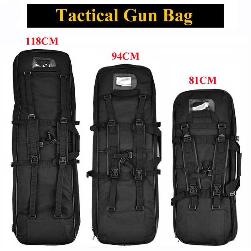 81cm 94cm 118cm Nylon Tactical Gun Bag Sniper Rifle Gun Case Airsoft Holster Shooting Hunting Accessories Army Military Backpack