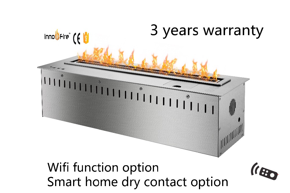 24 inch intelligent wifi modern black and silver auto etanol fireplace24 inch intelligent wifi modern black and silver auto etanol fireplace