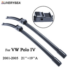 SLIVERYSEA Car Windscreen Wipers Blade For VW Polo 4 2001-2005 21+19A Accessories Auto Rubber 2 Pcs/Pair,CPA101-3