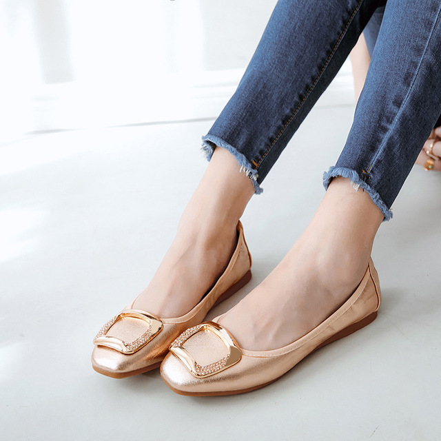 c6a35ff8caf 18 Best Sellers Women s Shoes Ballet Boat Shoes Ladies Basic Flats Casual  Loafers Woman Slip-on Shine Elegant Sexy Party Wedding