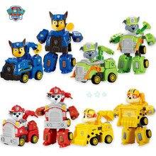 Paw patrol toy deformation car robot children set dog birthday gift