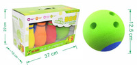 Eco Friendly Rubber 12 5cm Diameter Bowling Balls 20CM Height Bowling Bottle Bowling Set Children Sports