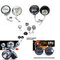 """Harley Motorcycle 4.5"""" LED Projector Auxiliary Passing Spot Fog Light Lamp House Bracket For Harley Touring Electra Glide"""