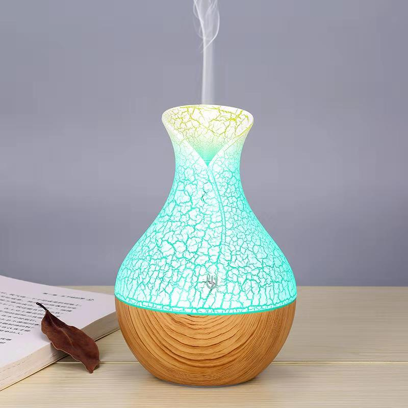 Aroma Diffuser USB  Cool Mist Humidifier Air Purifier Or  10ml Essential Oil For Office Home With 7 Color Change LED Night Light
