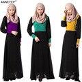 Мусульманин платье абая для женщин Исламского платья дубай кафтан Исламская одежда Мусульманская абая Платье турецкий джилбаба хиджаб 040