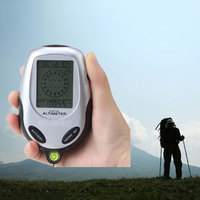 Multifunction Portable Electronic Altimeter Barometer Level Meter Compass Thermometer Weather Forecast Time Calendar for Camping