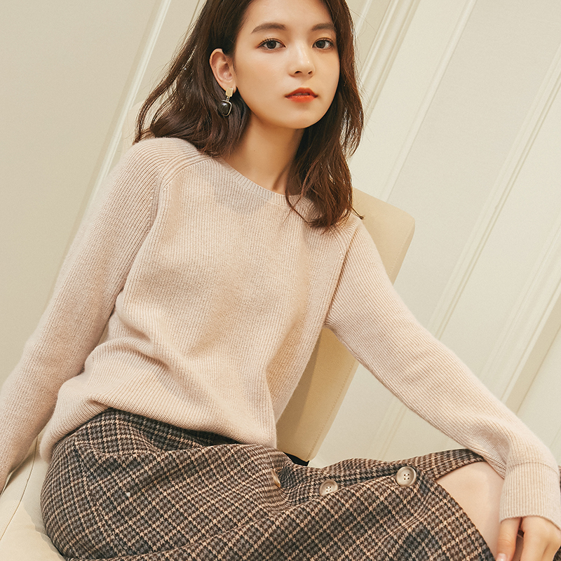 Winter O Neck Women Cashmere Wool Sweaters JECH 2018 Casual Solid Slim Sweaters Women Long Sleeve Pullovers Knitted Female Plus