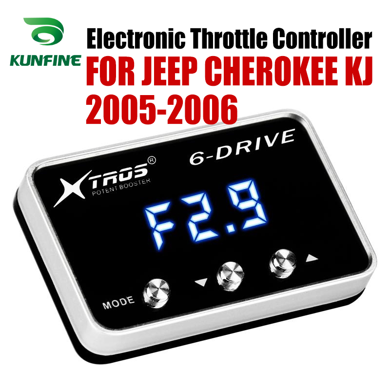 Car Electronic Throttle Controller Racing Accelerator Potent Booster For JEEP CHEROKEE KJ 2005-2006 2.8 DIESEL Tuning PartsCar Electronic Throttle Controller Racing Accelerator Potent Booster For JEEP CHEROKEE KJ 2005-2006 2.8 DIESEL Tuning Parts