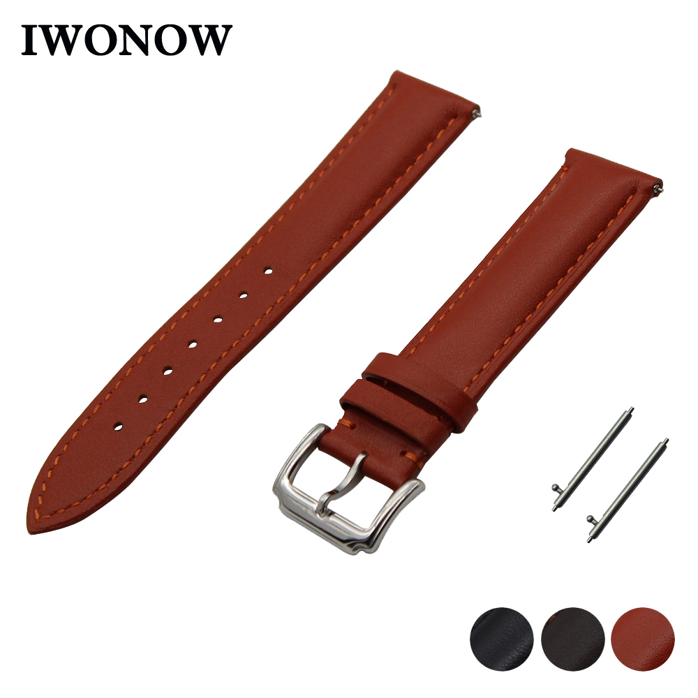 First Layer Genuine Leather Watch Band For Pebble Time -9212