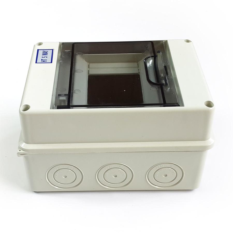 HT 5 Way Plastic Electrical Distribution Box Waterproof MCB Box Panel Mounted Distribution Box HT Series Household light box