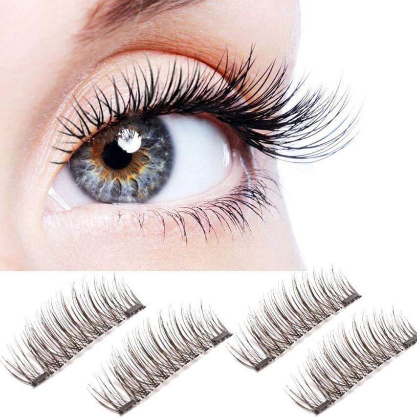 magnetic eyelashes 0.2mm thin False Eyelashes Synthetic Hair magnetic eyelash 3D Reusable extension lashes New 12.15