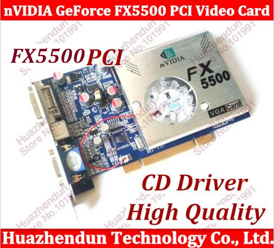 все цены на  Free Shipping 5pcs NEW nVIDIA GeForce FX5500 256MB 128bit DDR VGA/DVI PCI Video Card with CD Driver  онлайн