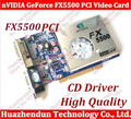 Frete grátis 5 pcs new nvidia geforce fx5500 256 mb ddr 128bit vga/dvi placa de vídeo pci com driver de cd