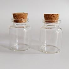 15ml Corked bottle glass vials candy jar packaging Storage bottles DIY Home Decorative crafts 30*40mm 50pcs/lot